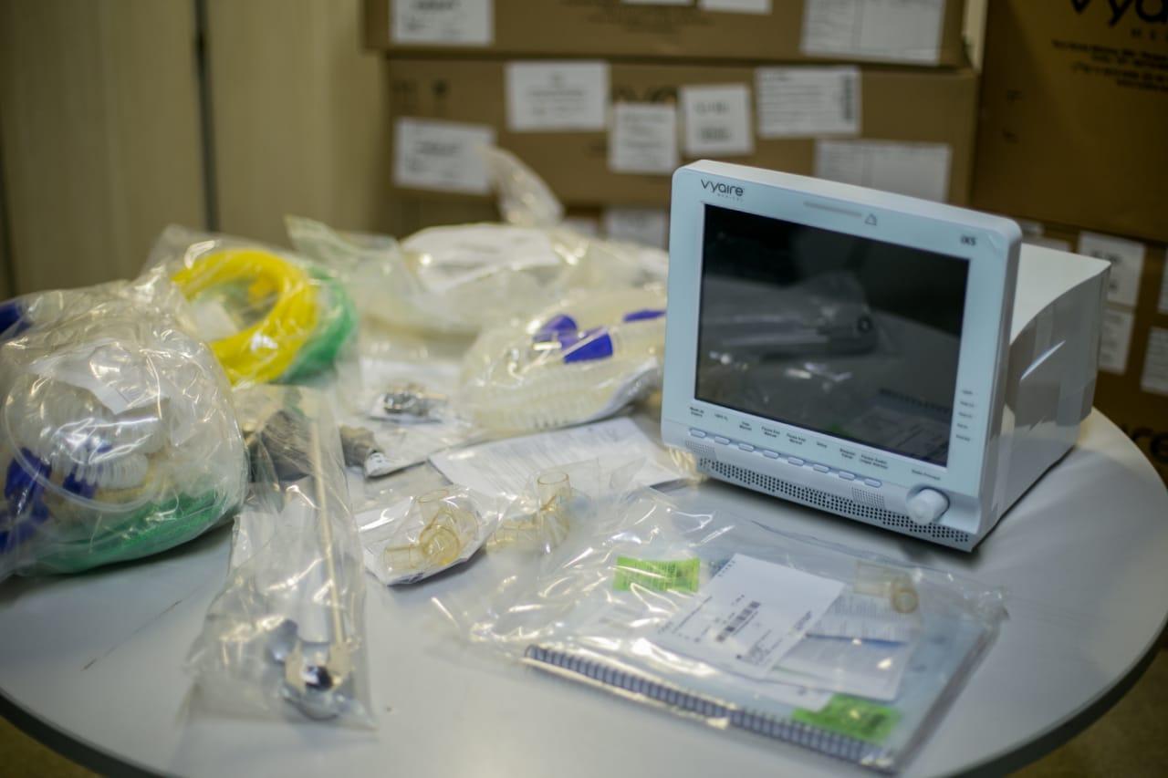 Cabedelo recebe cinco respiradores para equipar leitos destinados a pacientes com Covid-19 no município