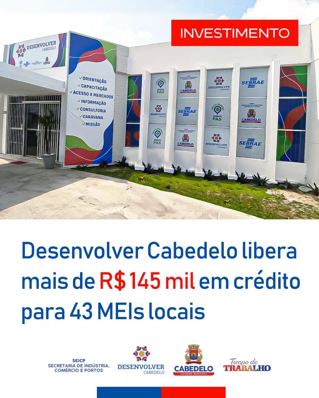 Desenvolver Cabedelo libera mais de R$ 145 mil em crédito para 43 MEIs locais