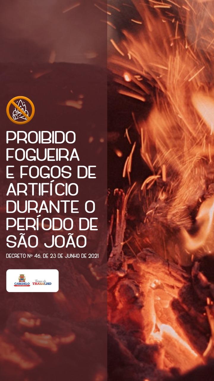 Prefeitura de Cabedelo proíbe fogueira e fogos de artifício durante o São João