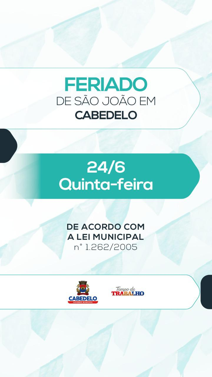 Expediente nas repartições públicas municipais será suspenso nesta quinta-feira, Dia de São João
