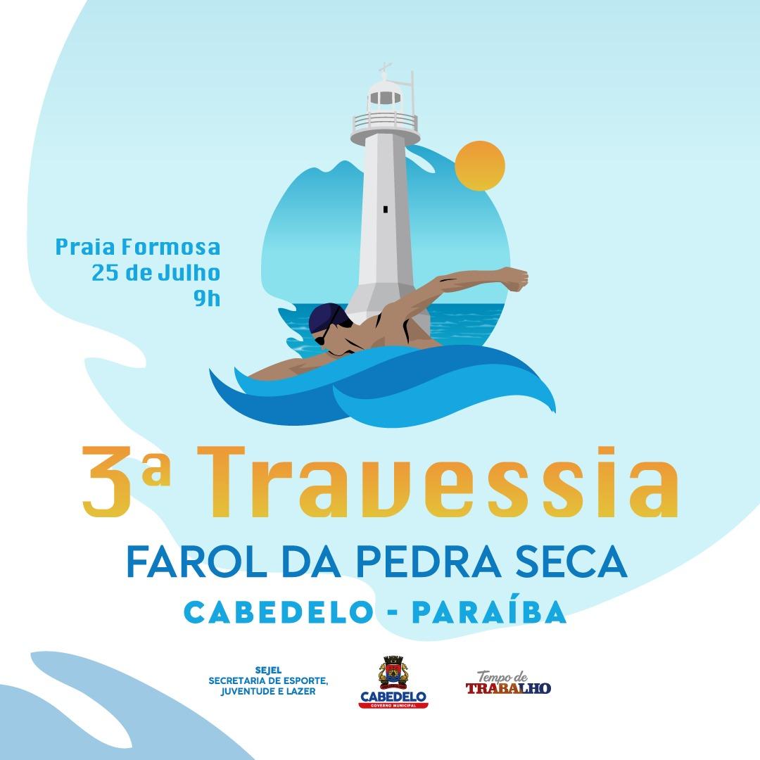 Cabedelo recebe competições da III Travessia do Farol da Pedra Seca neste domingo (25)